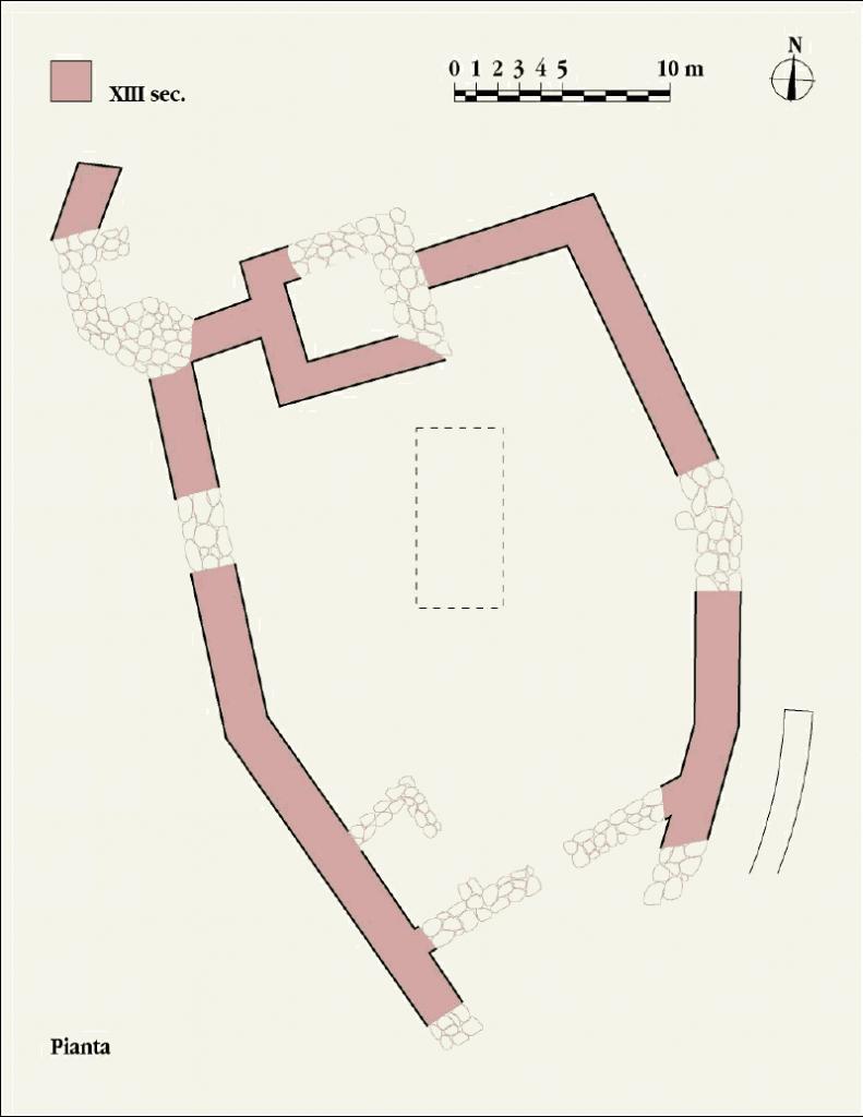 Pianta e sezioni del monumento